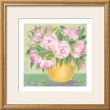 Yellow Vase Peonies I Prints by Patricia Roberts