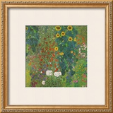 Farm Garden with Sunflowers, 1905 Prints by Gustav Klimt
