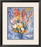 Bouquet des Fleurs Posters by Marc Chagall