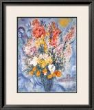 Bouquet des Fleurs Posters by Marc Chagall