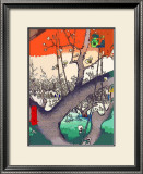 Plum Garden at Kameido Framed Giclee Print by Ando Hiroshige