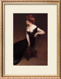 Woman Reclining in Black Dress Print by John White Alexander