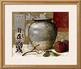 Chinese Ceramic with Apples Art by Pascal Lionnet