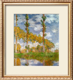 Poplars at Giverny Prints by Claude Monet