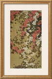 Small Bird and Red Roses Framed Giclee Print by Jyakuchu Ito