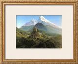Mountain Majesty Print by Caspar David Friedrich