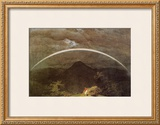 Mountain Landscape with Rainbow Framed Giclee Print by Caspar David Friedrich
