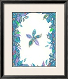 Color Melody: Blue Flower and Soft Water Framed Giclee Print by Kyo Nakayama