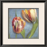 Parrot Tulips I Print by Sally Wetherby
