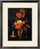 Bouquet de Fleurs Print by Maria Van Oosterwyck