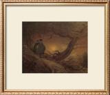 Two Man Contemplating the Moon Framed Giclee Print by Caspar David Friedrich