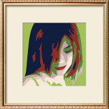 The Girl from Okinawa in Green Print by Javier Palacios