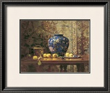 Oriental Vase with Crab Apples Posters by Del Gish