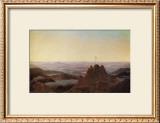 Morning in the Riesengebirge Framed Giclee Print by Caspar David Friedrich