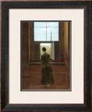 Woman at the Window Framed Giclee Print by Caspar David Friedrich