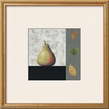 Pear and Leaves Poster by John Boyd