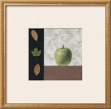Green Apple and Leaves Posters by John Boyd