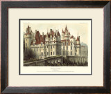 Petite French Chateaux VII Prints by Victor Petit
