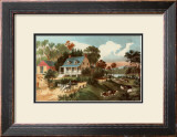 American Homestead Summer Prints by  Currier & Ives
