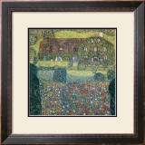 Villa on the Attersee Framed Giclee Print by Gustav Klimt
