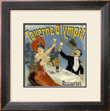 Vintage Champaign Toast Framed Giclee Print by Kate Ward Thacker