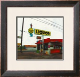 Route 66: West End Liquor Poster by Ayline Olukman