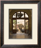 Cafe Courtyard Print by Kenneth Gregg