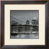 Downtown Manhattan and Brooklyn Bridge Posters by Torsten Hoffmann