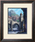 Castle over the Town Framed Giclee Print by Kyo Nakayama