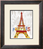 Hommage, Tour Eiffel Art by Valerie Roy