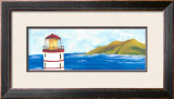 Lighthouse and Sea I Art by Evol Lo