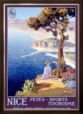 Nice Festival of Sports and Tourism Framed Giclee Print by L. Bonamici
