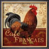 Cafe Francais Poster by Conrad Knutsen