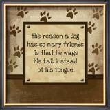 Dog Wags Tail Poster by Jennifer Pugh