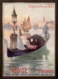 Venice, Italy, Gondola Framed Giclee Print by Hugo D'Alesi