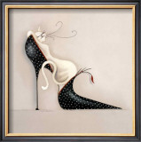 The Purrfect Fit I Prints by Marilyn Robertson