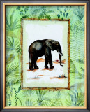 Jungle Elephant Prints by Marie Frederique