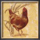 Golden Hen Prints by Laurel Lehman