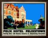 Felix Hotel Framed Giclee Print by Frank Newbould