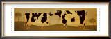 Kissing Cows Art by Warren Kimble