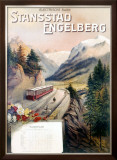 Stansstad Engelberg Railway Train Framed Giclee Print