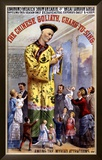 P.T. Barnum and the Great London Circus: The Chinese Goliath Framed Giclee Print