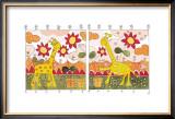 Giraffes II Poster by Marta Arnau