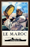 Le Maroc, Navigation Paquet Framed Giclee Print