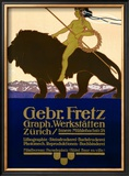 Gebr Fretz Framed Giclee Print by Carl Moos