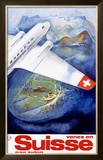 Suisse par Avion Airline Framed Giclee Print