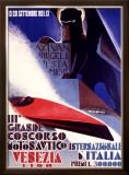 3rd Concorso Motonautico di Venezia Framed Giclee Print by Giuseppe Riccobaldi