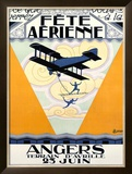 Fete Aerienne Angers Framed Giclee Print by P. L. Armand