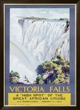 Cunard Line, Victoria Falls, 1931 Framed Giclee Print by W. G. Bevington