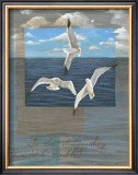 Three White Gulls II Prints by Tara Friel